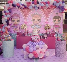Lindíssima festa com o tema LOL Surprise! Girls Party Decorations, Party Themes, Theme Parties, Party Ideas, Todays Birthday, 4th Birthday Parties, Pig Party, Doll Party, Bear Birthday