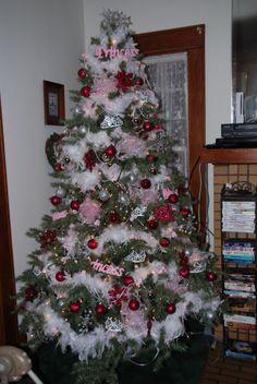 Christmas 2009.  Princess Christmas Tree.  Baby's First Christmas