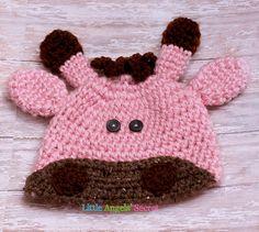 Giraffe crochet hat Baby Girl Giraffe by LittleAngelssecret