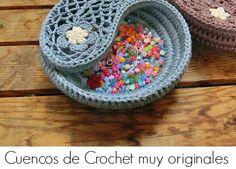 Cuencos yin yang crochet paisley