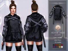 10 colors Found in TSR Category 'Sims 4 Female Everyday' Hoodie Dress, Coat Dress, Sims 4 Stories, Los Sims 4 Mods, Sims 4 Anime, The Sims 4 Packs, Remake Clothes, Sims4 Clothes, Sims 4 Dresses