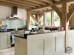 Timber frame kitchens by Carpenter Oak Ltd
