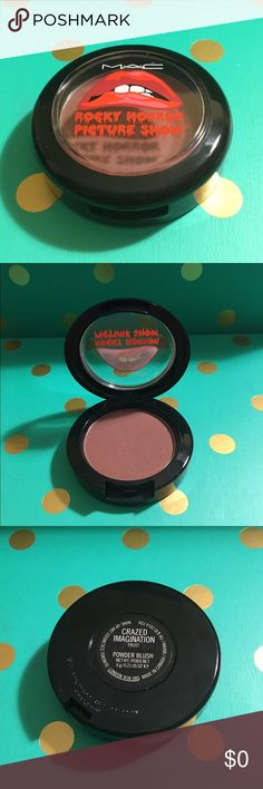 MAC Rocky Horror MAC Crazed Imagination. Frost Powder Blush. 100% Authentic. Limited Edition. New Without Box. No Trades. MAC Cosmetics Makeup Blush