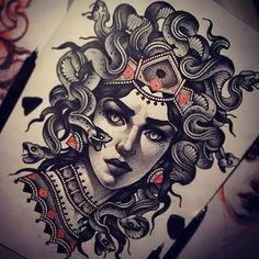 la gorgona medusa tattoo - Google Search