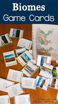 Learning about Biomes Game Cards Science Biology, Science Lessons, Science Education, Teaching Science, Science For Kids, Science Activities, Life Science, Preschool Science, Science Stations