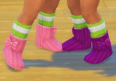 HBCU Black Girl Sims 4 Toddler, Ribbon Bows, Leg Warmers, Boots, Black, Fashion, Leg Warmers Outfit, Crotch Boots, Moda
