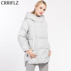 CRRIFLZ 2017 New 4 Colors Fashionable Women Winter Coat Female Jacket Woman's Hooded Down Parka Warm Winter Coat Women Outerwear