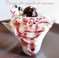mousse allo yogurt ed amarene ricetta dessert fresco senza cottura