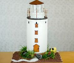 How to Make a Lighthouse: http://www.completely-coastal.com/2016/05/diy-lighthouses-how-to-make-lighthouse-cardboard-plastic-bottle-etc.html Super fun DIY lighthouse ideas!