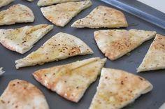 Julie Ann Art: Homemade Pita Chip Tutorial