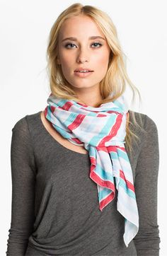 POVERTY FLATS by rian Stripe Jersey Scarf | Nordstrom