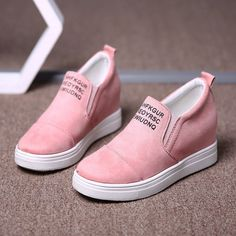 Big Size Women Daily Comfy Suede Height Increased Slip On Flat Short Boots is hot-sale. Come to NewChic to buy womens boots online. Latest Shoes, Boots Online, Wedge Shoes, Women's Shoes, Shoe Closet, Short Boots, Slip On Sneakers, Ankle Booties, Me Too Shoes