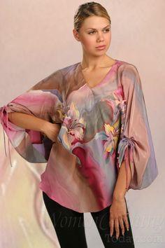 womenclothingtoday.com Silk Blouse The Stream of Life