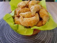 Sajtos minikifli - kenyérsütőben kelesztve Shrimp, Meat, Food, Eten, Meals, Diet
