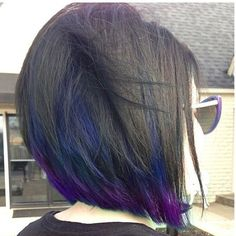 I want my hair cut and colored exactly like this, except with just purple underneath.