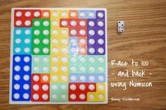 Race to 100 is a common game played in Grade One classrooms. There are variations, of course. In one, players take turn. Teaching Numbers, Math Numbers, Numicon Activities, Ks2 Maths, Guided Maths, Maths Eyfs, Math Homework Help, Math Challenge, Math Problem Solving