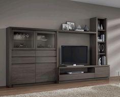 mueble para TV Living Room Wall Units, New Living Room, New Furniture, Furniture Design, Modern Tv Wall Units, Rack Tv, Muebles Living, Entertainment Wall, Tv Unit Design