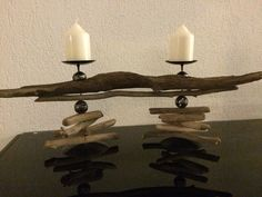 Schwemmholz Driftwood, Candle Sconces, Wall Lights, Candles, Lighting, Home Decor, Tablewares, Deco, Appliques