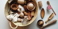 cesto tesoros · panera tresors by @lidiafraguas via aupaorganics blog Napkin Rings, Wild Things, Home Decor, Play, Fashion, Bread Baskets, Hampers, Games, Moda