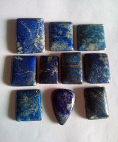 302 Ct 10 Pcs Lot Set Natural Lapis Cabochon Loose Gemstone high Quality Luster #HAYAATGEMS