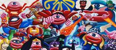 Hervé di Rosa - Street art - Pop art - Artiste franco Belge Benjamin Spark - Inspiration comics - Super Héros http://www.flickr.com/photos/benjaminspark/
