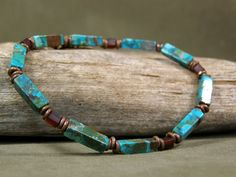Mens Bracelet  Turquoise Bracelet  Mans by StoneWearDesigns, $43.00