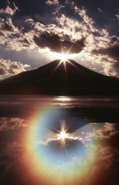 Fuji and the rainbow Beautiful Sky, Beautiful Landscapes, Beautiful World, Beautiful Places, Beautiful Pictures, Landscape Photography, Nature Photography, Monte Fuji, Science And Nature