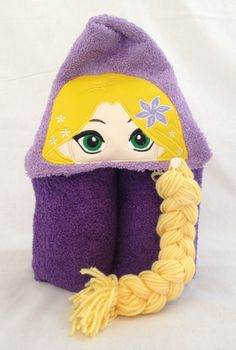 Personalized baby gifts hooded towels fairy baby gift hooded rapunzel hooded towel character towel personalized towel hooded towel for kids tangled negle Choice Image