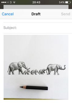 Elephant tattoo drawing Family of elephants
