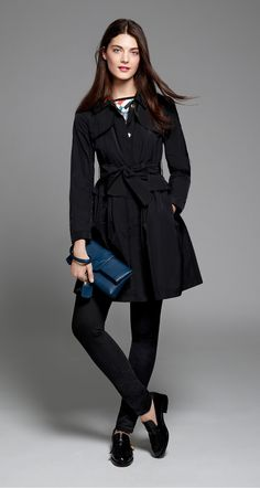 Trench coat in faille - Coats - Fall 2015 - New Collection