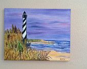 The Coast medium sized original oil landscape painting on stretched canvas.  I love lighthouses and will visit them any chance I get!  This painting has all the factors that I love, lighthouse, beach and ocean them.  Very calming!  I painted all sides and included wire hardware so its ready to be hung on a wall of your choosing!