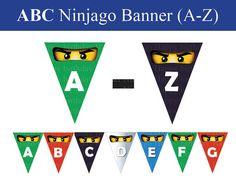 Sofortige DL  Ninjago banner A-Z alle Buchstaben sind im