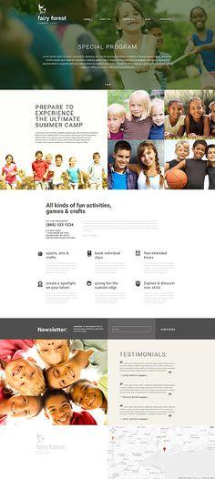 Summer Camp Website #Joomla #template. #themes #business #responsive #Joomlathemes