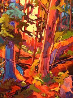Morning Joy Study -John David Anderson  Acrylic on Panel  12 x 16  contemporary Canadian Artisthttp://jdapicker.fineartstudioonline.com/