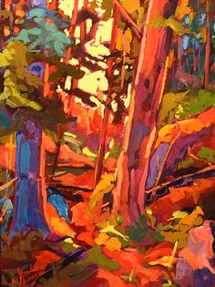 Morning Joy Study -John David Anderson  Acrylic on Panel  12 x 16  contemporary Canadian Artisthttp://jdapicker.fineartstudioonline.com/
