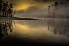 Foggy Morning on Bluestone, photographed by Mike Ornoff at Bluestone Creek off of Buggs Island Lake in Mecklenburg, Virginia Virginia, Foggy Morning, Donate Now, Island, Sunset, Outdoor, Block Island, Outdoors, Islands