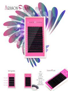 [Visit to Buy] Arison lash 1 Case All Size JBCD eyelash extensions mink black fake false eyelashes curl #Advertisement