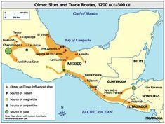 Olmec_Trade_Routes http-::www.latinamericanstudies.org