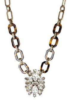 Tortoise Deco Pendant Necklace by t+j Designs on @HauteLook