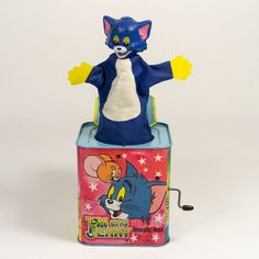 antique jacks game | Home / Toys and Games / Tom and Jerry Jack in a Box c1970 ( I had this one when I was little ) ML.G x