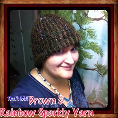 Brown & Sparkly Knitted Hat Hand knitted. Great for the cold months coming. Autumn colors. Fits size Large Jewelry of the Future Accessories Hats