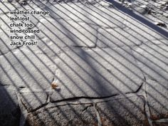 TeacherDance: Poetry Friday Pinning and Snow Chalking (Original poem)