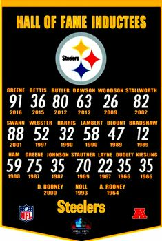 PITTSBURGH STEELERS~HALL OF FAME INDUCTEES