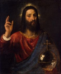 Titian+Paintings | enlarge painting painting name christ blessing painting size inches ...