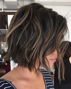Brown Choppy Bob With Highlights Related posts: Let's know about attractive short layered haircuts for curly hair 22 Cute Layered Hairstyles For Medium Hair Medium Hair Cuts, Short Hair Cuts, Medium Hair Styles, Short Hair Styles, Plait Styles, Short To Medium Hair, Short Layered Haircuts, Layered Bob Hairstyles, Bob Haircuts