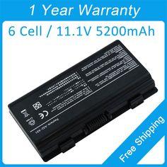 New 5200mah laptop battery A32-X51 A32-T12 A32-T12J A32-XT12 for asus T12U X51 X58 X5L X5LD T12C X51L Pro52 T12Eg #Affiliate