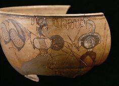 Museo Numantino de Soria. Vaso de los Guerreros (S. I a.C.), procedente de Numancia.