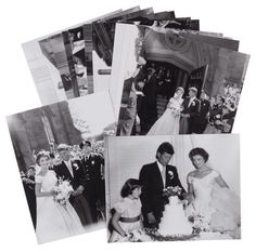 """These Rare Photos From JFK And Jackie O.'s Wedding Were Found In A Darkroom When John F. Kennedy married Jacqueline Bouvier on September one of their guests told a reporter from Life magazine that the wedding was """"just like a coronation. Jackie Kennedy Wedding, Jfk And Jackie Kennedy, Jaqueline Kennedy, Kennedy Jr, Wedding Dress Pictures, Wedding Pictures, 22 November, Picture Story, Social Events"""