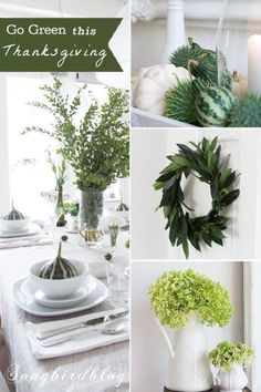Go green for you thanksgiving decor this year   eBay