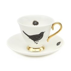 Melody Rose Bird and Nest Teacup